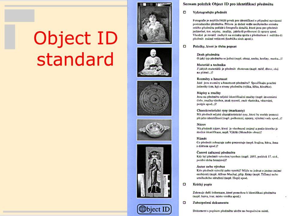 15 Object ID standard