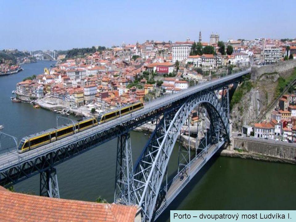 Porto – dvoupatrový most Ludvíka I.