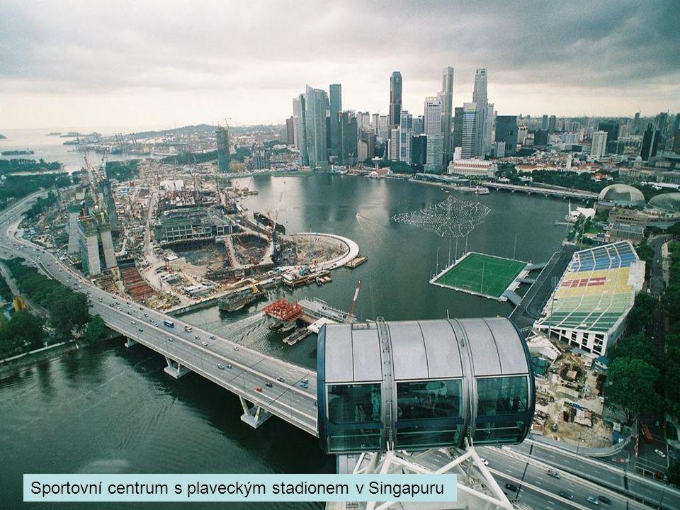 Sportovní centrum s plaveckým stadionem v Singapuru