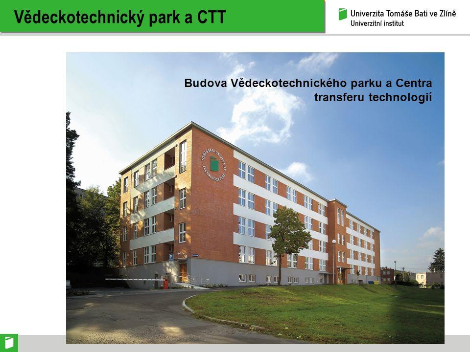 Vědeckotechnický park a CTT Budova Vědeckotechnického parku a Centra transferu technologií