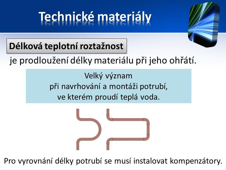 Délková teplotní roztažnost je prodloužení délky materiálu při jeho ohřátí.