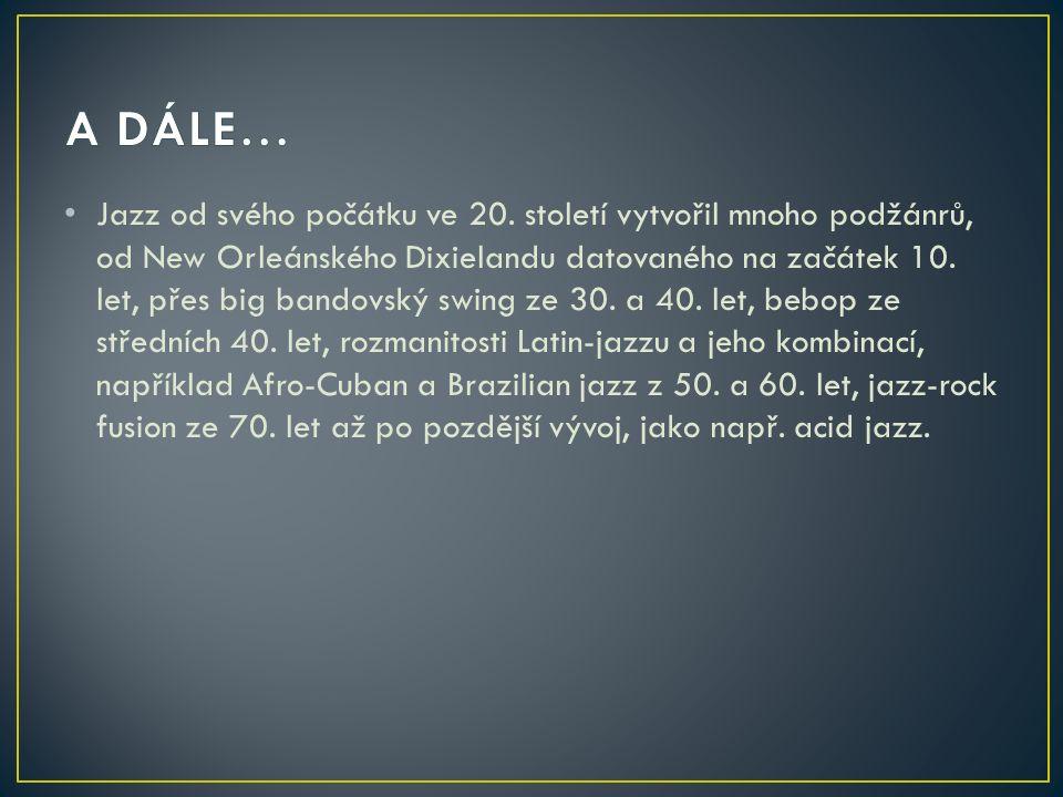 Jazz od svého počátku ve 20.