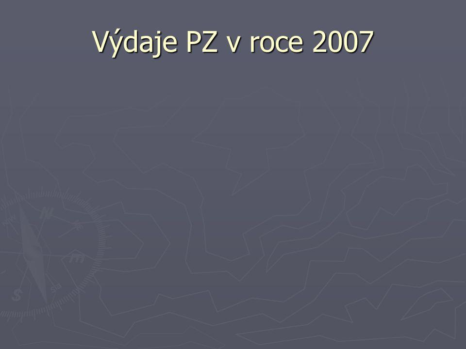 Výdaje PZ v roce 2007