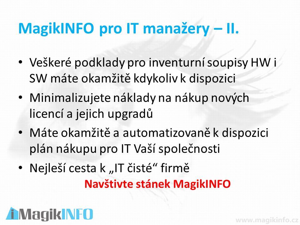 MagikINFO pro IT manažery – II.