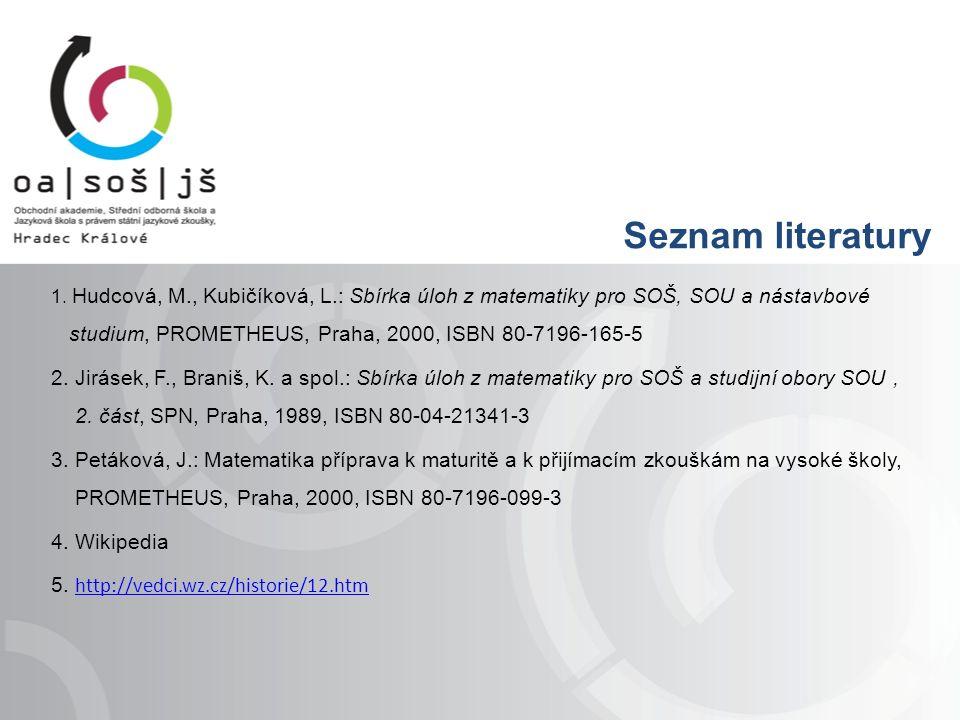 Seznam literatury 1.