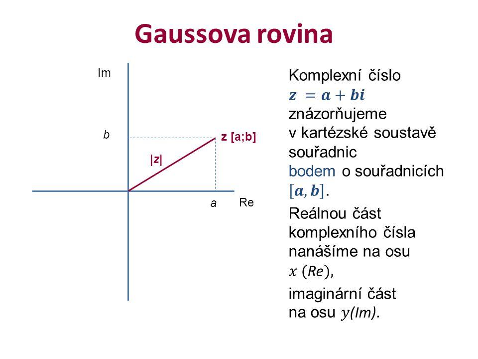 Gaussova rovina Re Im a b |z| z [a;b]