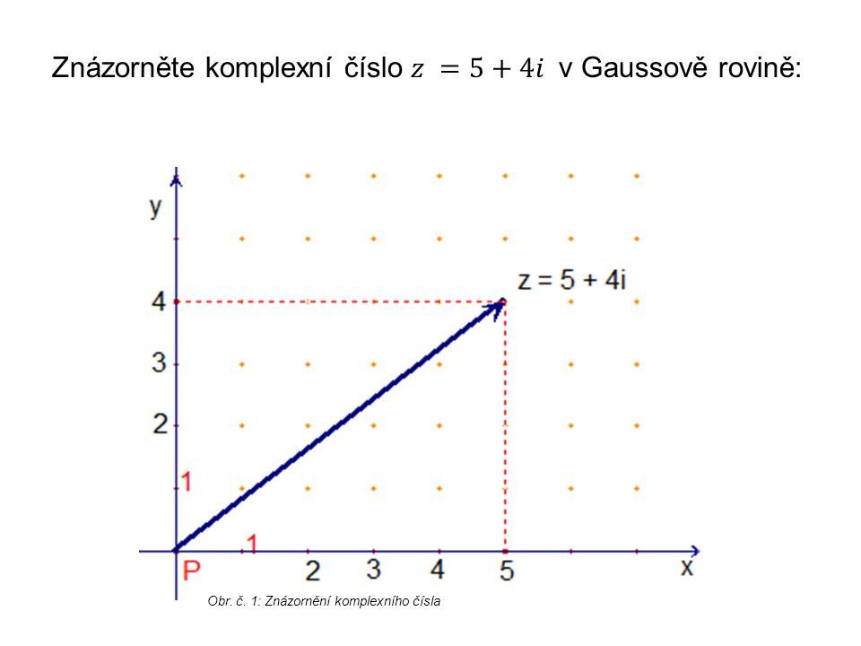 Obr. č. 1: Znázornění komplexního čísla