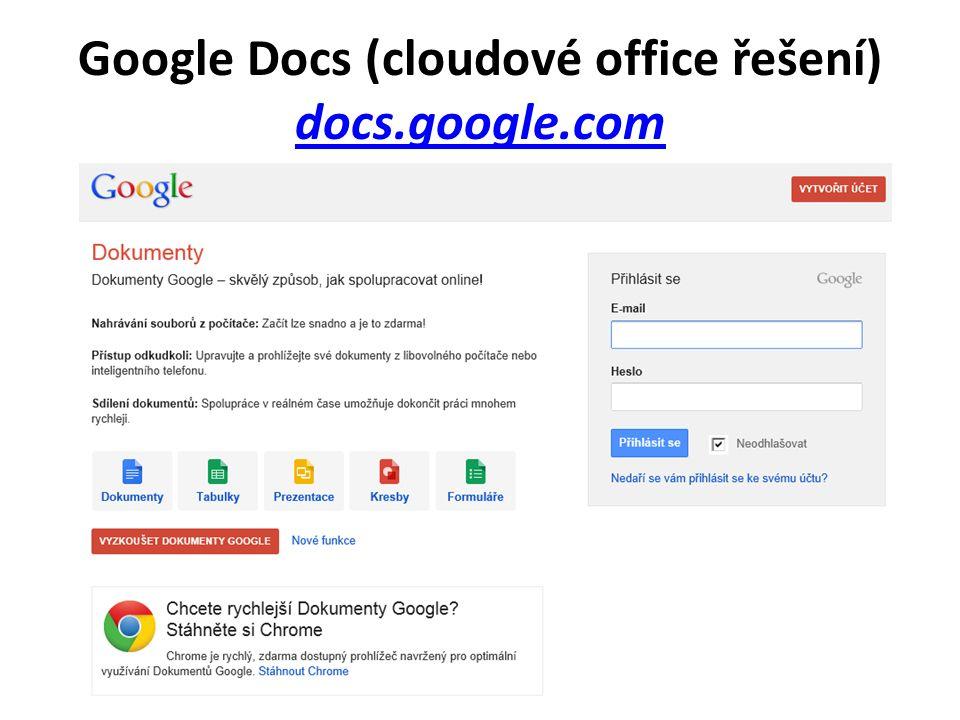 Google Docs (cloudové office řešení) docs.google.com docs.google.com