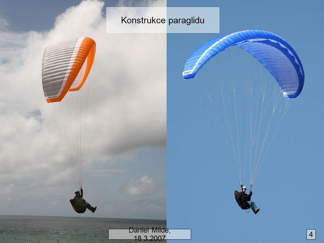 Konstrukce paraglidu Daniel Milde, 18.3.2007 4