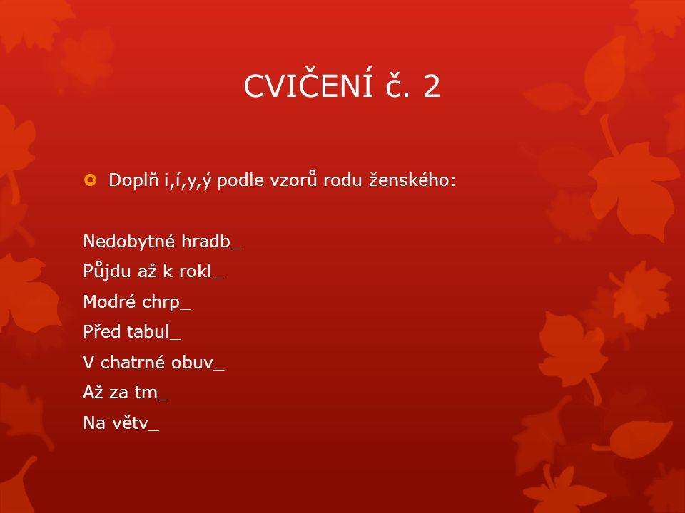 CVIČENÍ č.