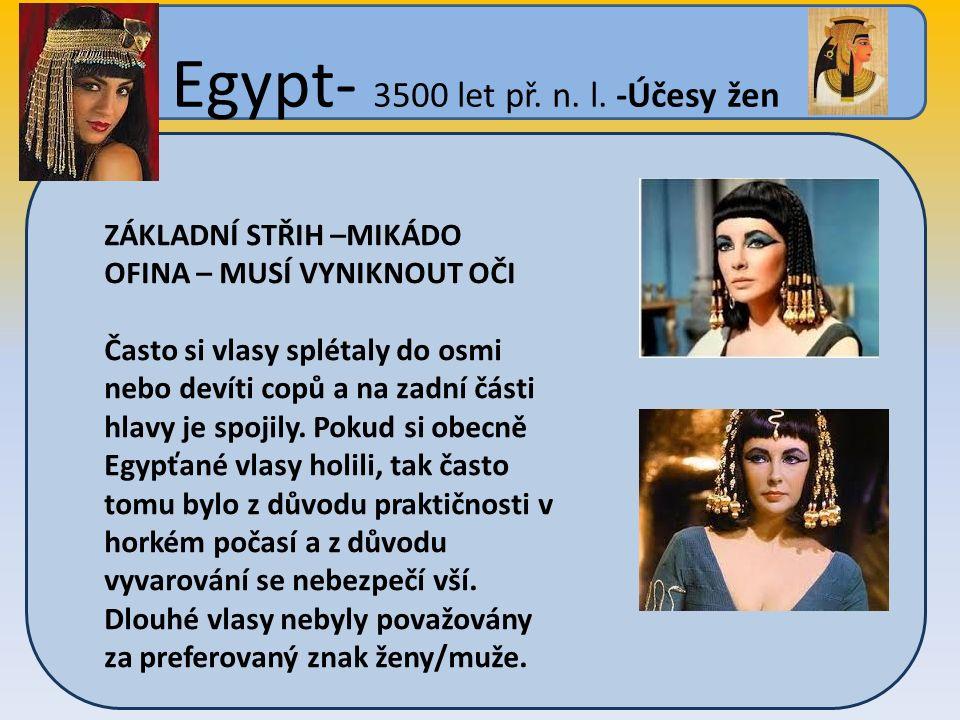 Egypt- 3500 let př. n. l.