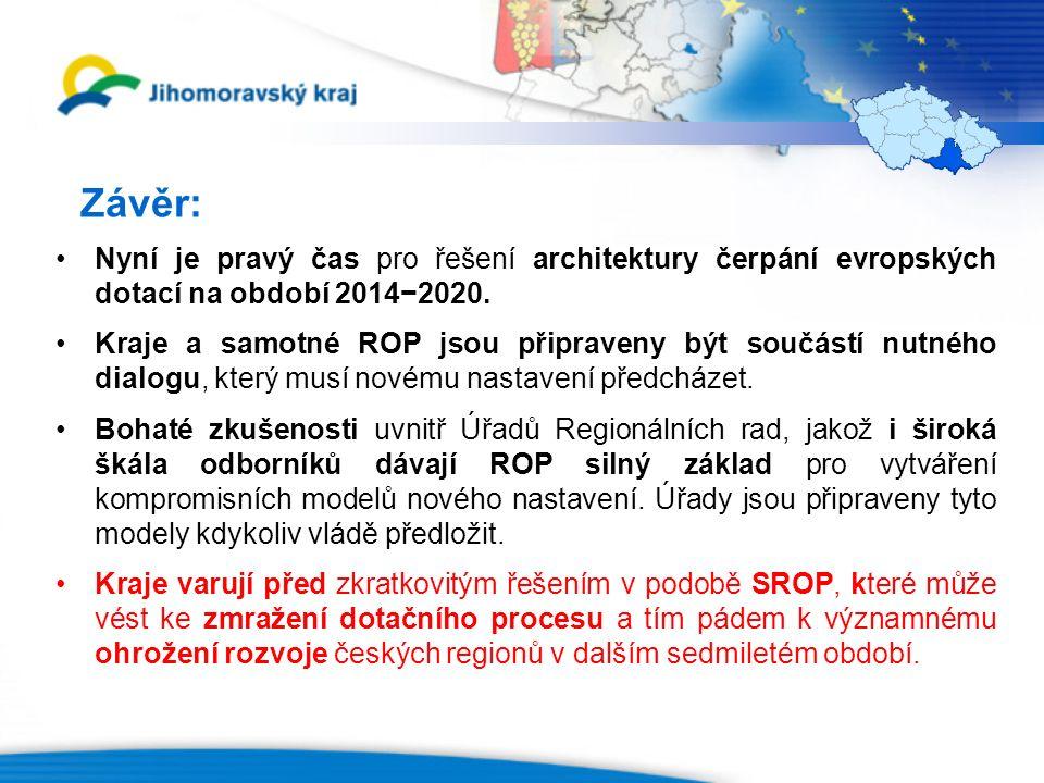 Závěr: Nyní je pravý čas pro řešení architektury čerpání evropských dotací na období 2014−2020.
