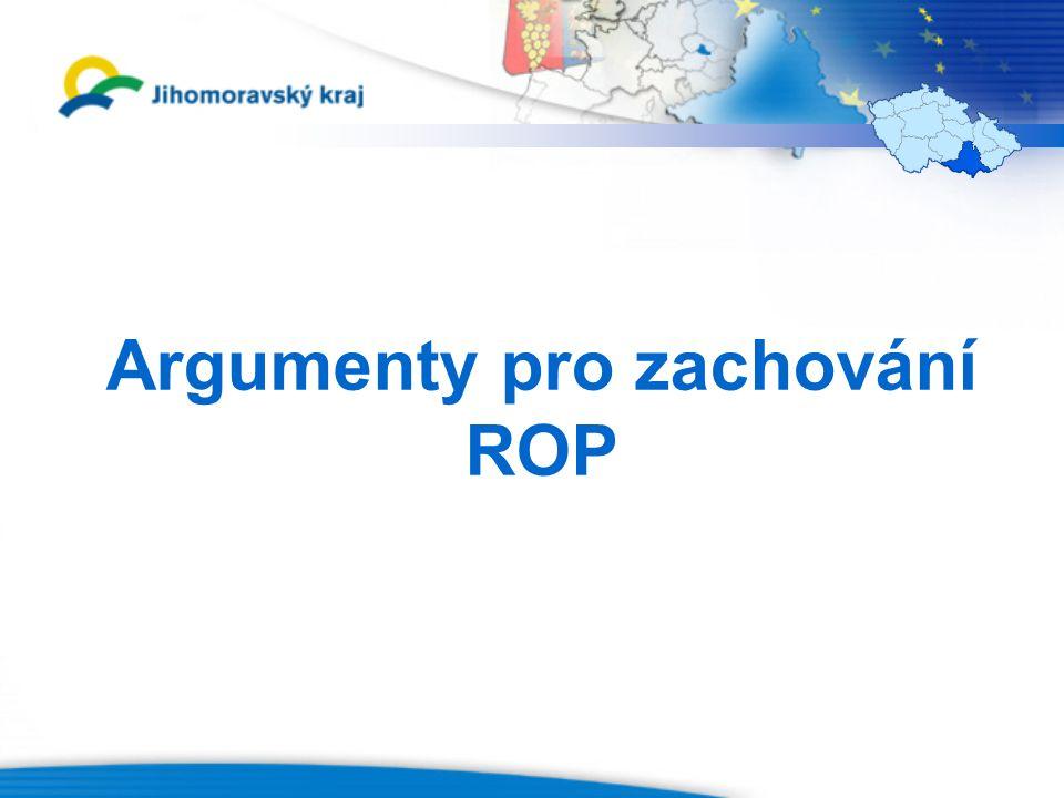 Argumenty pro zachování ROP