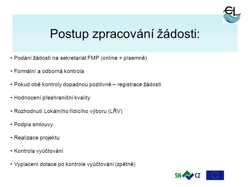 7 Postup zpracování žádosti: Podání žádosti na sekretariát FMP (online + písemně) Formální a odborná kontrola Pokud obě kontroly dopadnou pozitivně –