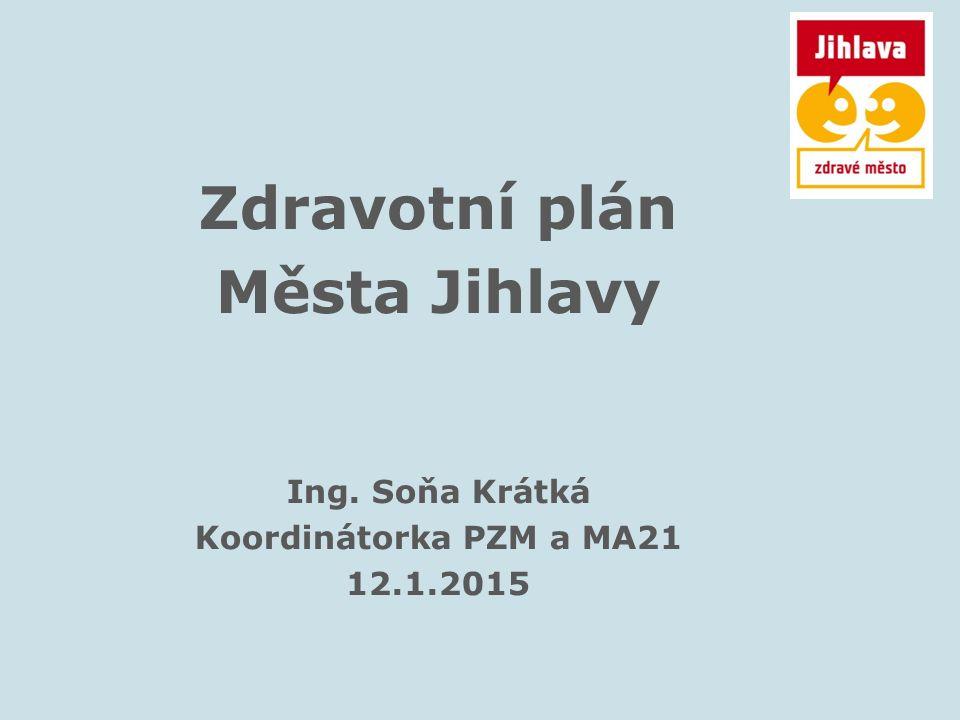 Zdravotní plán Města Jihlavy Ing. Soňa Krátká Koordinátorka PZM a MA21 12.1.2015