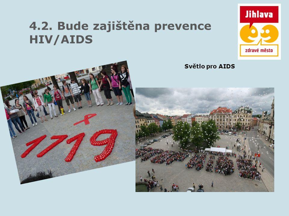 4.2. Bude zajištěna prevence HIV/AIDS Světlo pro AIDS