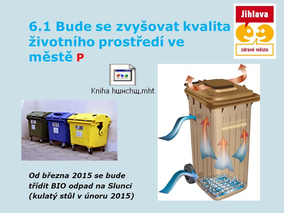 6.1 Bude se zvyšovat kvalita životního prostředí ve městě P Od března 2015 se bude třídit BIO odpad na Slunci (kulatý stůl v únoru 2015)