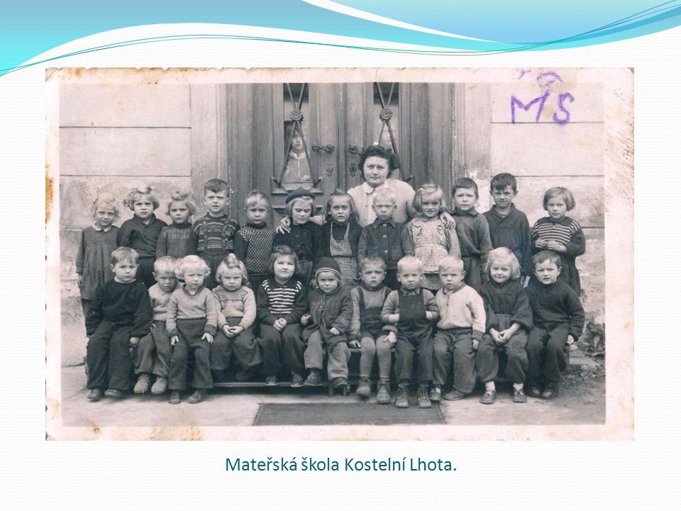 Mateřská škola Kostelní Lhota.