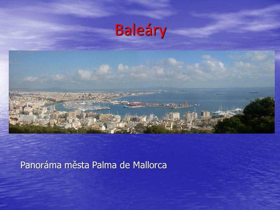 Baleáry Panoráma města Palma de Mallorca