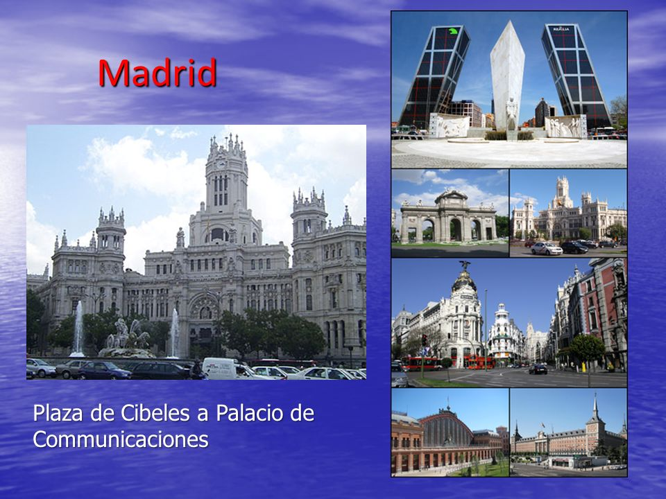 Madrid Plaza de Cibeles a Palacio de Communicaciones