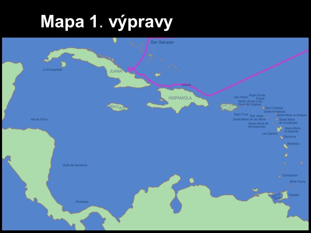 Mapa 1. výpravy