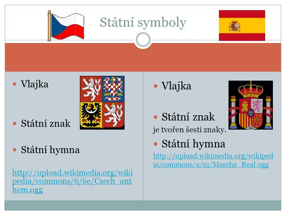 Vlajka Státní znak Státní hymna http://upload.wikimedia.org/wiki pedia/commons/6/6e/Czech_ant hem.ogg http://upload.wikimedia.org/wiki pedia/commons/6