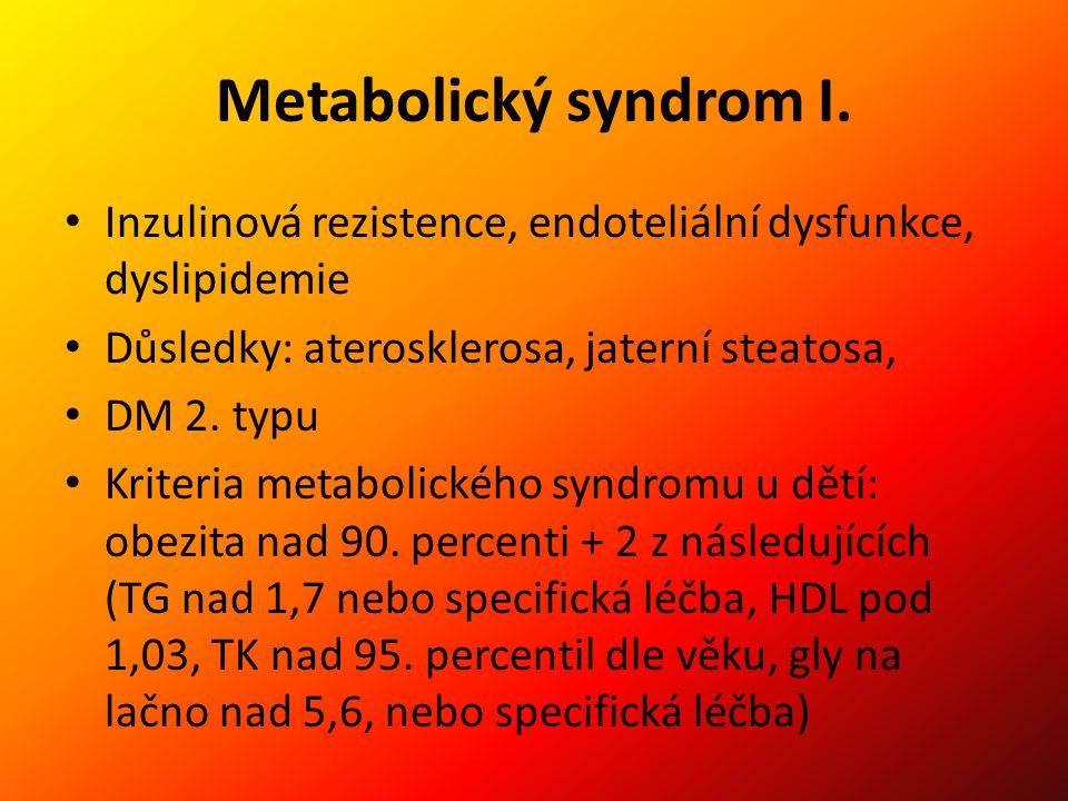 Metabolický syndrom I.