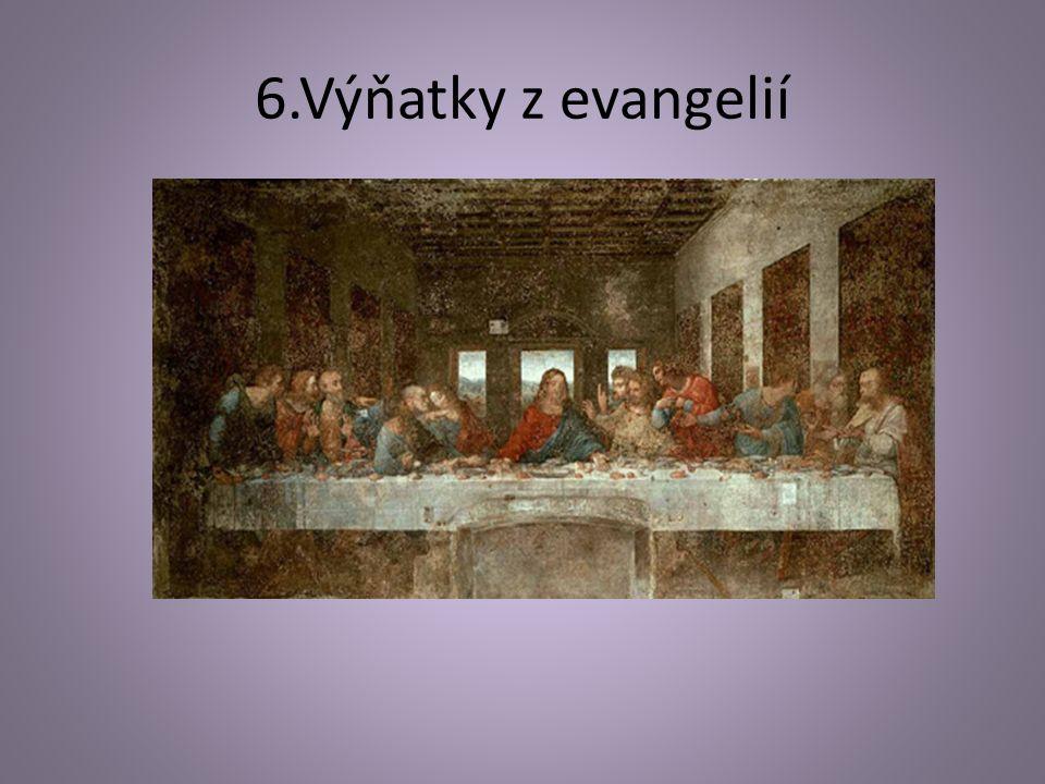 6.Výňatky z evangelií