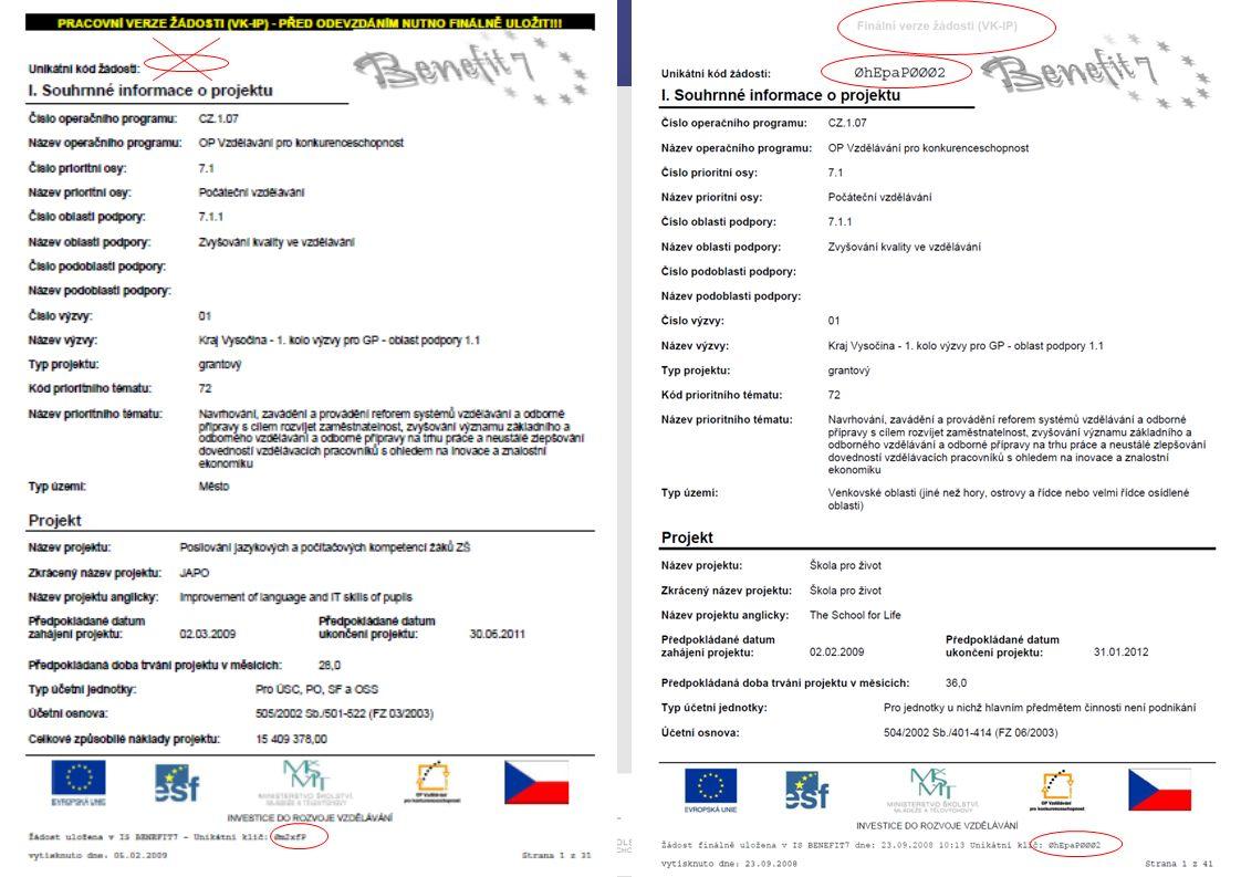 Michala Pechová 26.srpna 2009 Hodnocení přijatelnosti Kritérium č.
