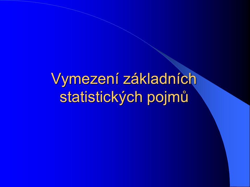 Vymezení základních statistických pojmů