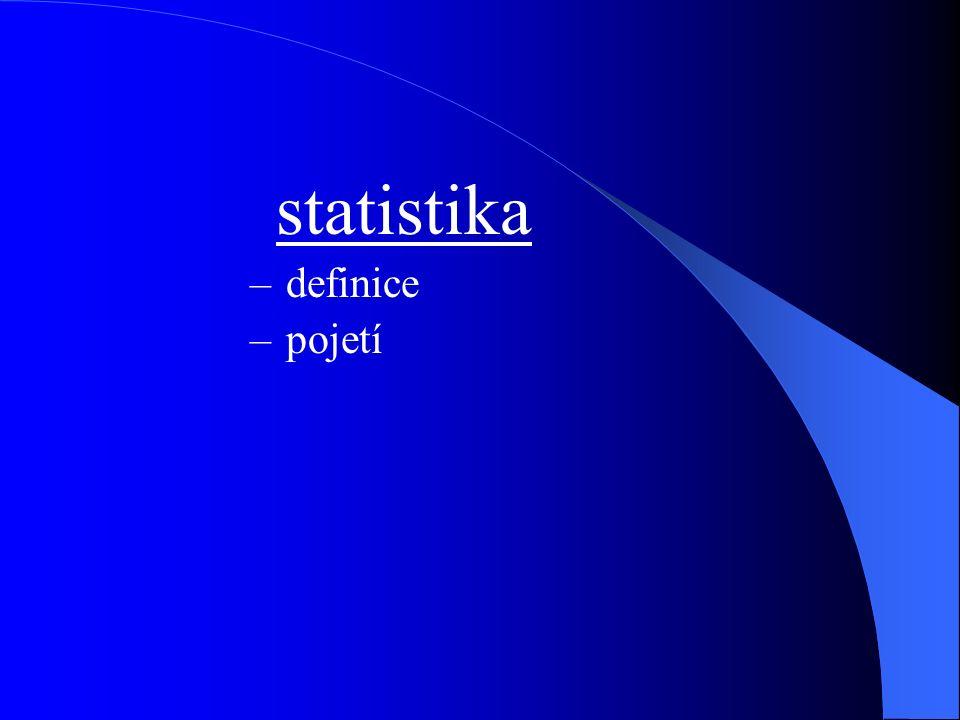 statistika –definice –pojetí