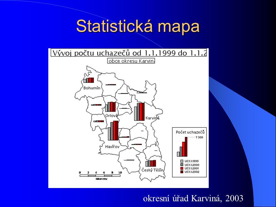 Statistická mapa okresní úřad Karviná, 2003