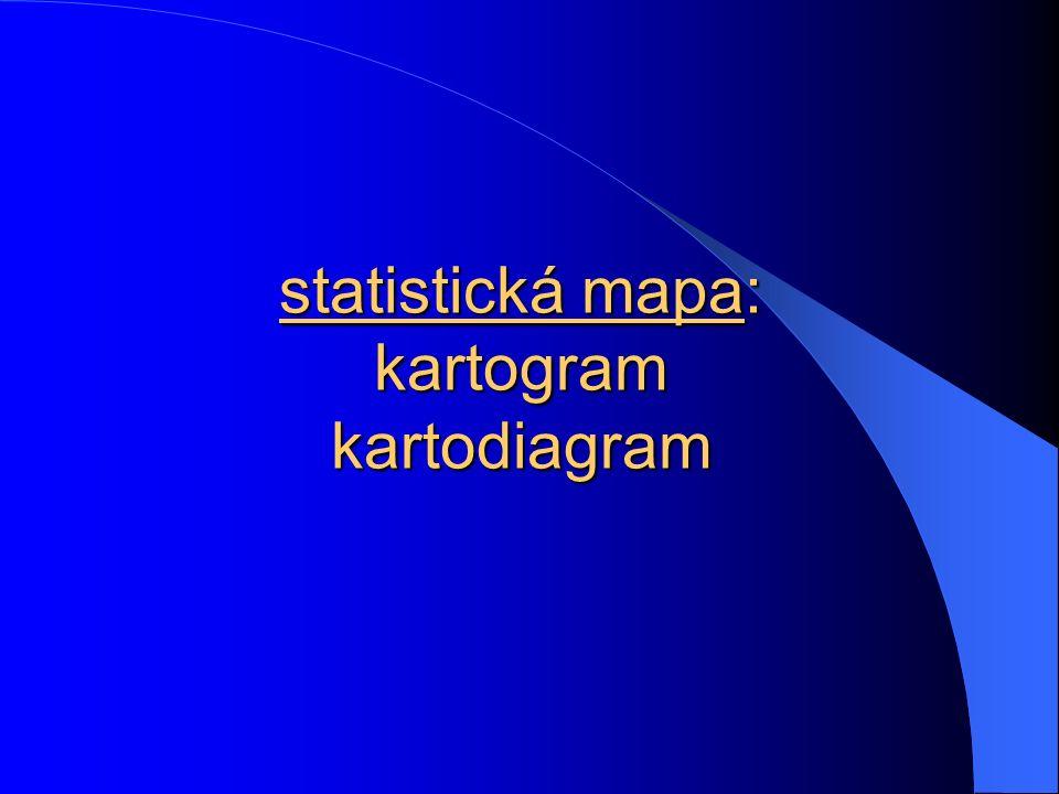 statistická mapa: kartogram kartodiagram