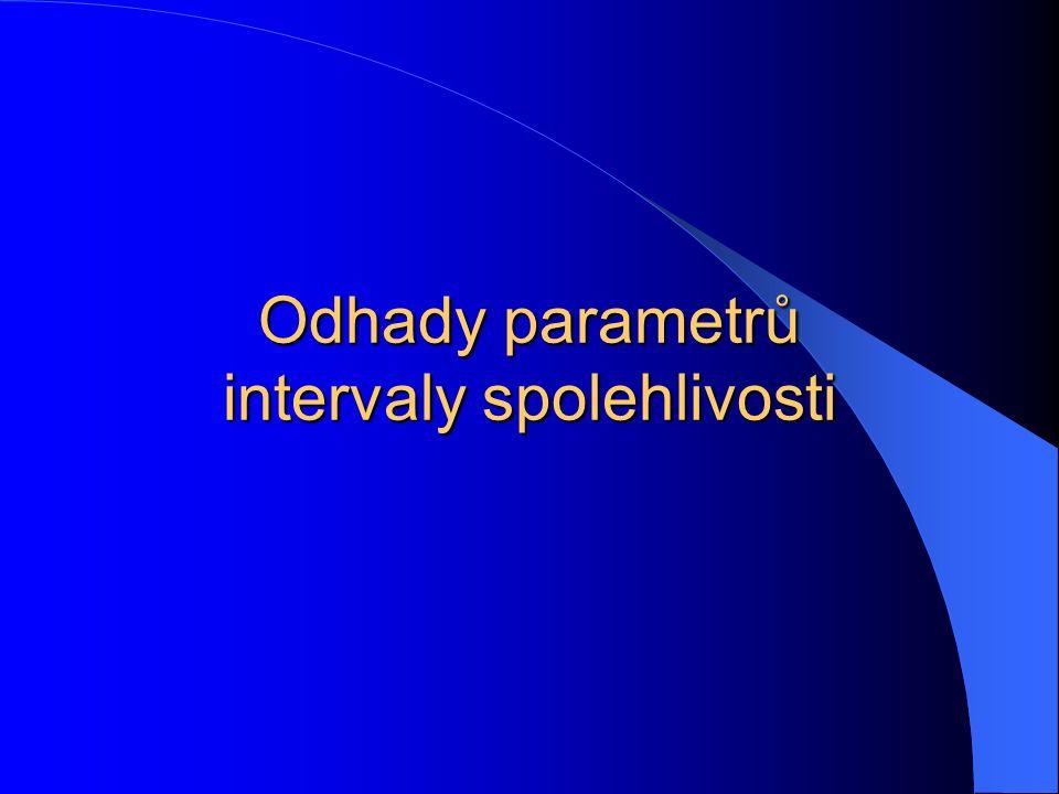 Odhady parametrů intervaly spolehlivosti