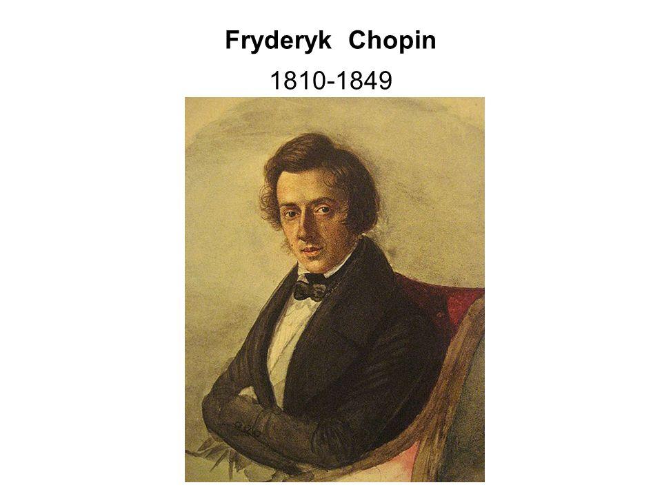 """Fryderyk Chopin, výslovnost [ ʃ ope ː n] byl polský hudební skladatel a klavírní virtuos období romantismu, který proslul jako """"básník klavíru Svá díla psal především pro sólový klavír a všechny jeho ostatní skladby obsahují klavírní part."""