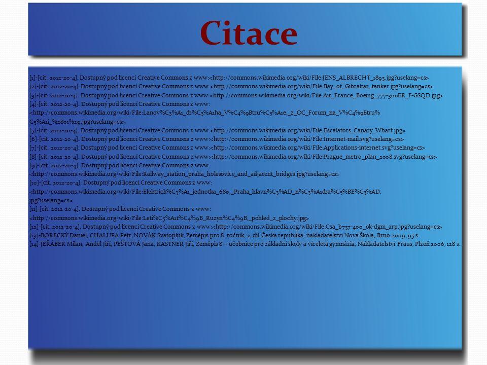 Citace [1]-[cit.2012-20-4]. Dostupný pod licencí Creative Commons z www: [2]-[cit.