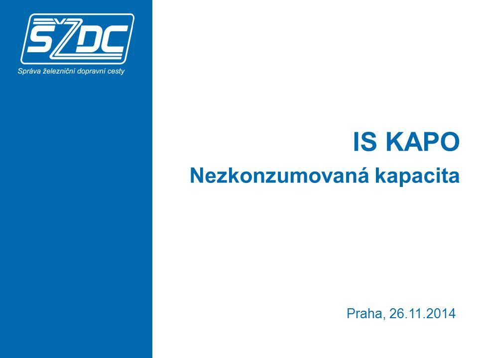 IS KAPO Nezkonzumovaná kapacita Praha, 26.11.2014