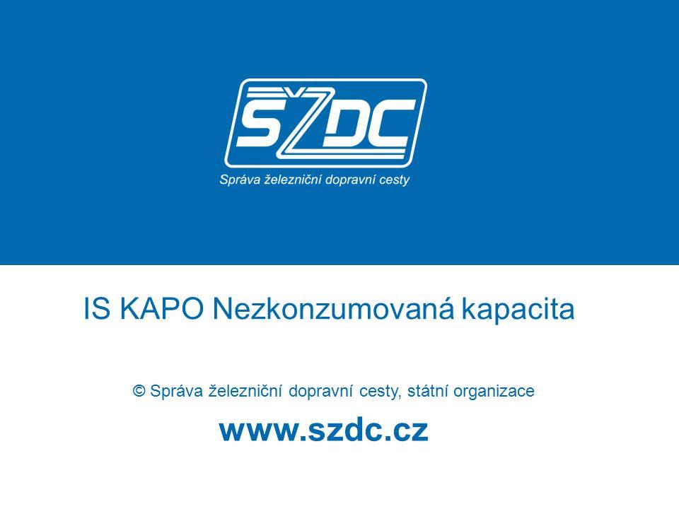 www.szdc.cz © Správa železniční dopravní cesty, státní organizace IS KAPO Nezkonzumovaná kapacita