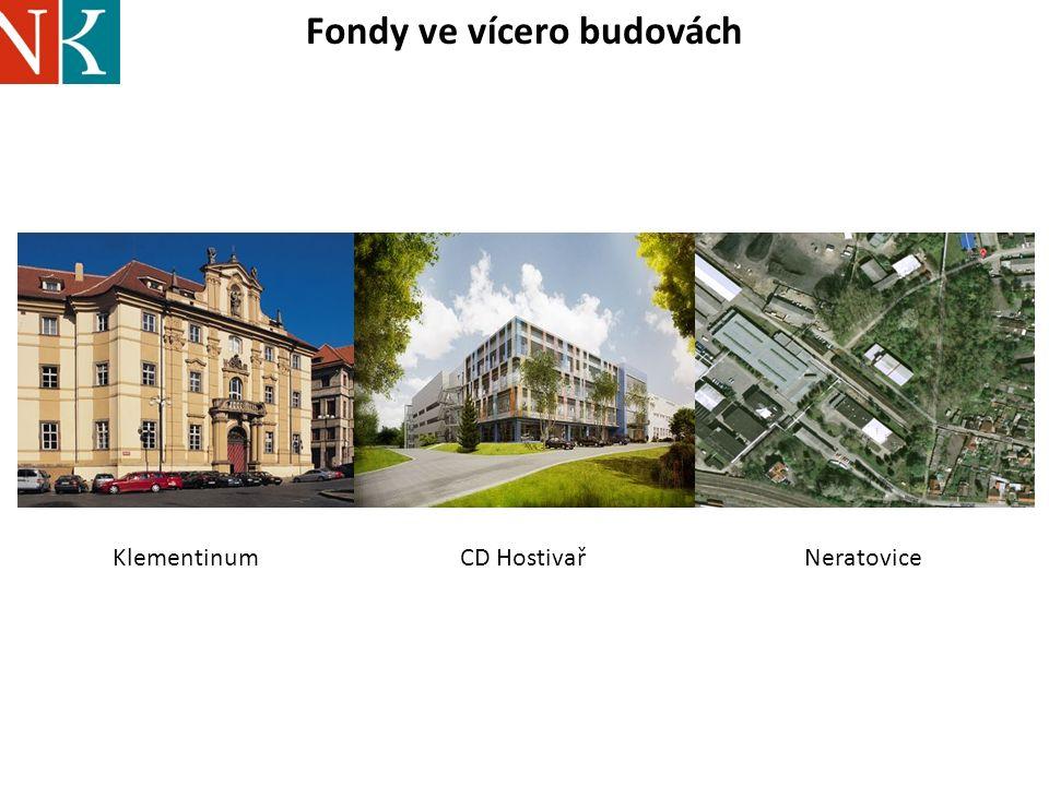 Fondy ve vícero budovách KlementinumNeratoviceCD Hostivař