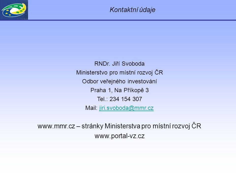 Kontaktní údaje RNDr.