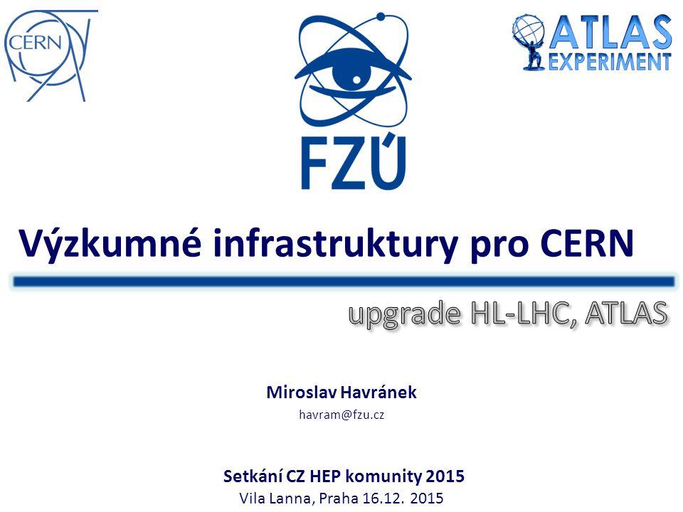 Výzkumné infrastruktury pro CERN Miroslav Havránek havram@fzu.cz Vila Lanna, Praha 16.12.