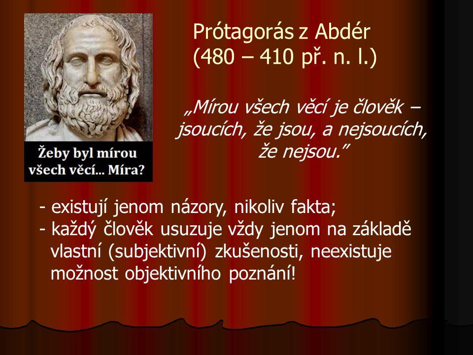Prótagorás z Abdér (480 – 410 př. n.