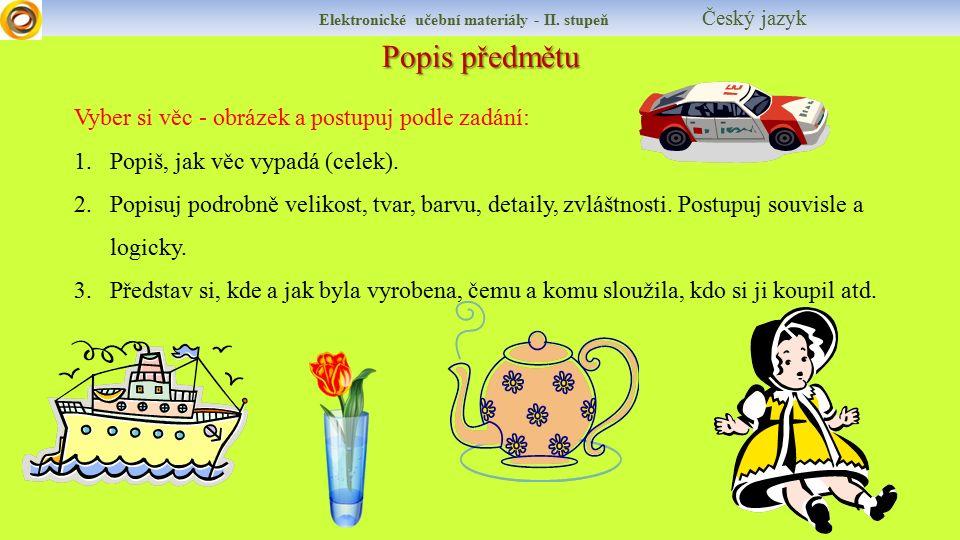Popis předmětu Elektronické učební materiály - II.