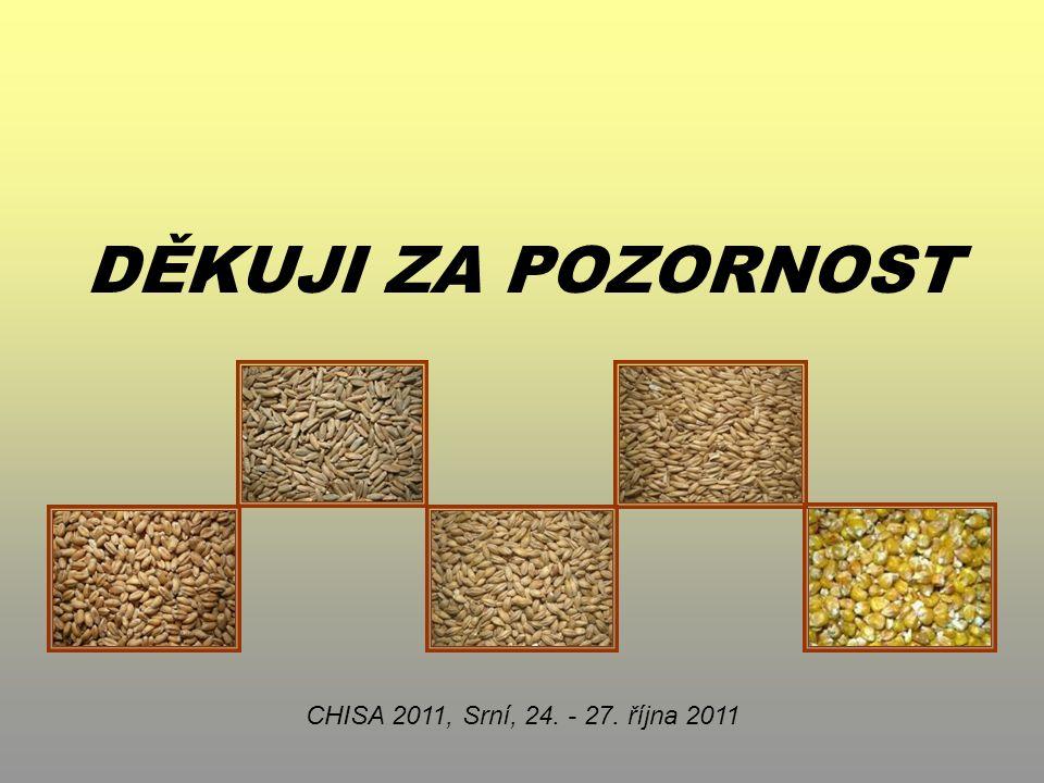 DĚKUJI ZA POZORNOST CHISA 2011, Srní, 24. - 27. října 2011