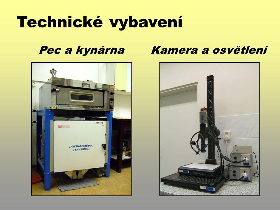 Technické vybavení Pec a kynárna Kamera a osvětlení