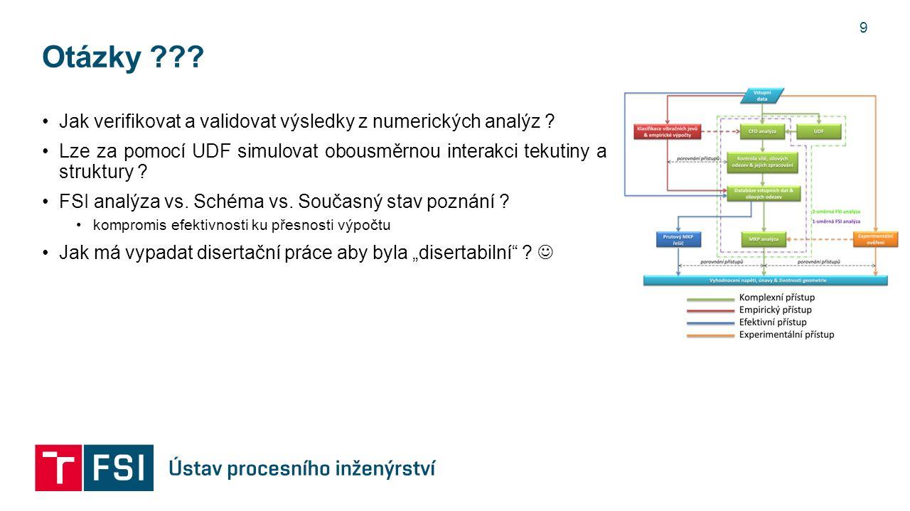 Otázky . 9 Jak verifikovat a validovat výsledky z numerických analýz .