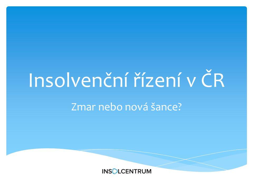 Insolvenční řízení v ČR Zmar nebo nová šance
