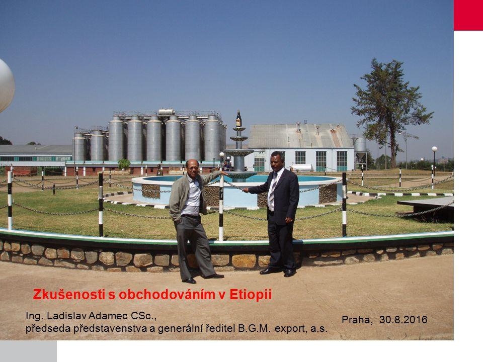 Zkušenosti s obchodováním v Etiopii Obsah: 1.Představení B.G.M.