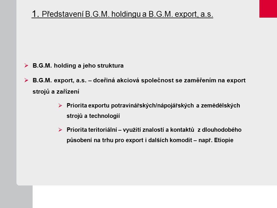 1. Představení B.G.M. holdingu a B.G.M. export, a.s.