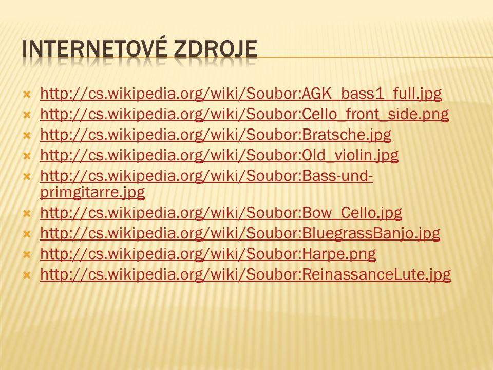  http://cs.wikipedia.org/wiki/Soubor:AGK_bass1_full.jpg http://cs.wikipedia.org/wiki/Soubor:AGK_bass1_full.jpg  http://cs.wikipedia.org/wiki/Soubor:Cello_front_side.png http://cs.wikipedia.org/wiki/Soubor:Cello_front_side.png  http://cs.wikipedia.org/wiki/Soubor:Bratsche.jpg http://cs.wikipedia.org/wiki/Soubor:Bratsche.jpg  http://cs.wikipedia.org/wiki/Soubor:Old_violin.jpg http://cs.wikipedia.org/wiki/Soubor:Old_violin.jpg  http://cs.wikipedia.org/wiki/Soubor:Bass-und- primgitarre.jpg http://cs.wikipedia.org/wiki/Soubor:Bass-und- primgitarre.jpg  http://cs.wikipedia.org/wiki/Soubor:Bow_Cello.jpg http://cs.wikipedia.org/wiki/Soubor:Bow_Cello.jpg  http://cs.wikipedia.org/wiki/Soubor:BluegrassBanjo.jpg http://cs.wikipedia.org/wiki/Soubor:BluegrassBanjo.jpg  http://cs.wikipedia.org/wiki/Soubor:Harpe.png http://cs.wikipedia.org/wiki/Soubor:Harpe.png  http://cs.wikipedia.org/wiki/Soubor:ReinassanceLute.jpg http://cs.wikipedia.org/wiki/Soubor:ReinassanceLute.jpg